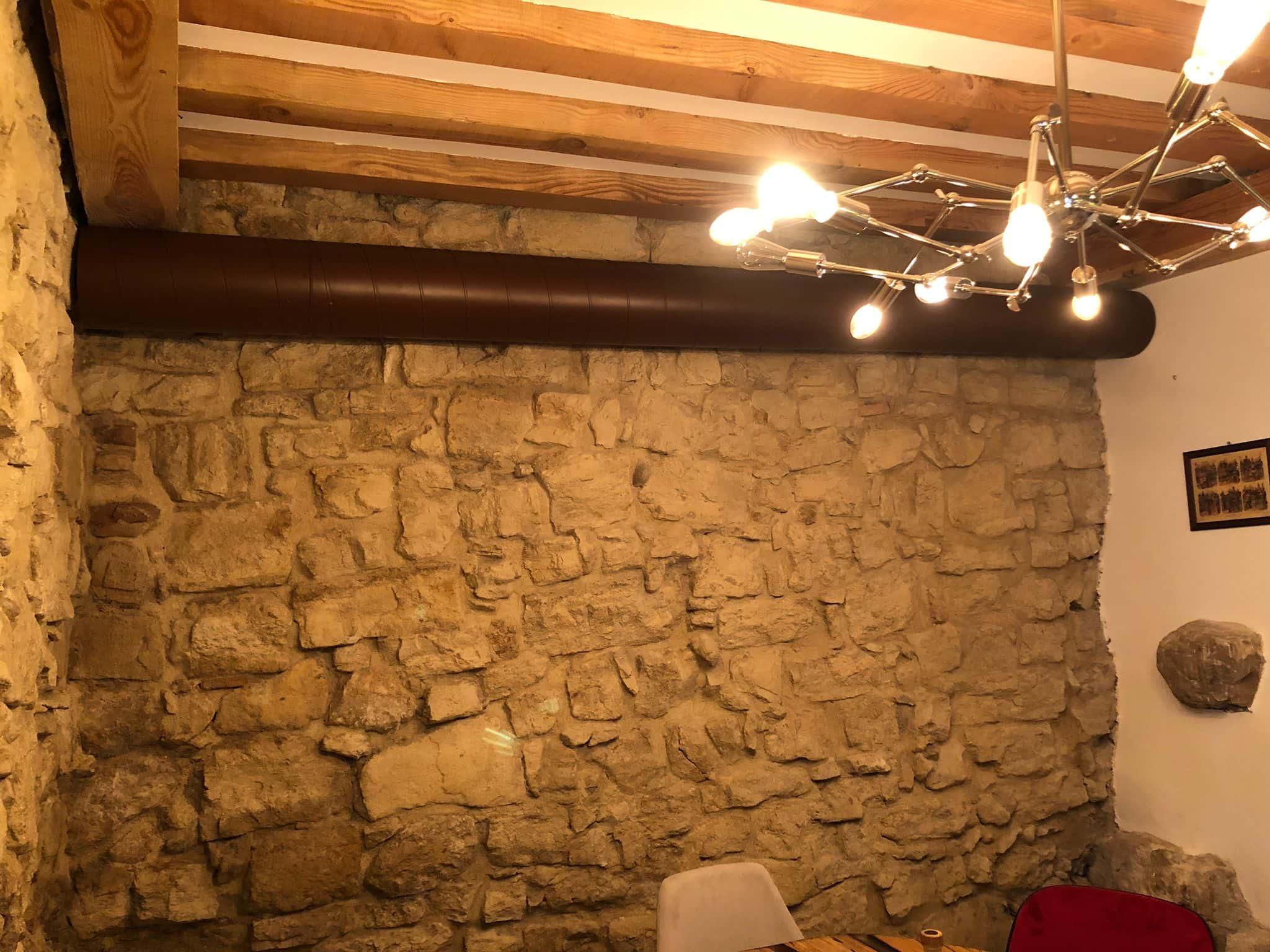 Impianto di climatizzazione ristorante con lutilizzo di tubazione spiroidale verniciata 3