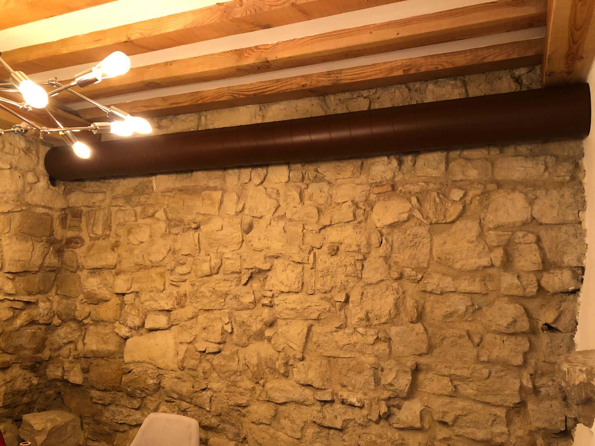 Impianto di climatizzazione ristorante con lutilizzo di tubazione spiroidale verniciata 4